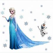 SAMOLEPKA NA ZEĎ FROZEN ELSA HVĚZDY A OLAF