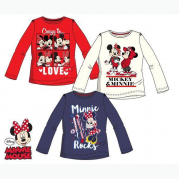 TRIČKO MINNIE AND MICKEY 4A WHITE DL. RUKÁV