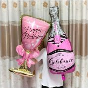 BALONKY HAPPY BIRTHDAY + CELEBRATION PINK